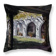 Elfrida Courtyard Throw Pillow