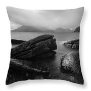 Elgol Beach Isle Of Skye Scotland Uk Throw Pillow