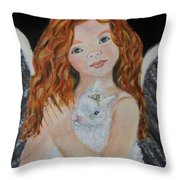 Eliana Little Angel Of Answered Prayers Throw Pillow