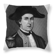 Elijah Clarke (1733-1799) Throw Pillow
