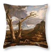 Elijah In The Desert Throw Pillow