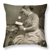 Elizabeth Garrett Anderson Throw Pillow by Stanislaus Walery