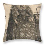 Elizabeth, Queen Of England, C.1603 Throw Pillow