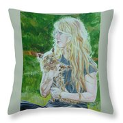 Elizabeth South And Ginger Throw Pillow