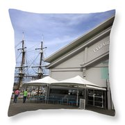 Elizabeth Street Pier Hobart Throw Pillow