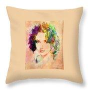 Elizabeth Taylor Throw Pillow by Mark Ashkenazi