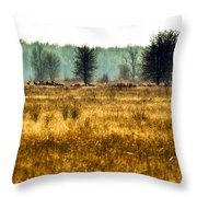 Elk In The Distance No. 1 Throw Pillow