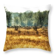Elk In The Distance No. 2 Throw Pillow