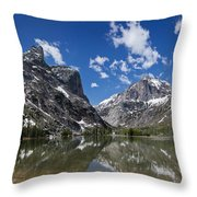 Elk Lake Panorama 1 Throw Pillow by Roger Snyder