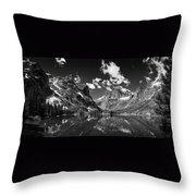 Elk Lake Panorama 3bw Throw Pillow