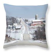 Elkader Farm Throw Pillow