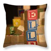 Ella - Alphabet Blocks Throw Pillow