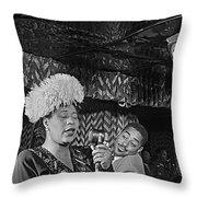 Ella Fitzgerald And Dizzy Gillespie William Gottleib Photo Unknown Location September 1947-2014. Throw Pillow