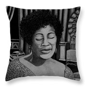Ella Fitzgerald Throw Pillow