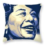 Ella Fitzgerald Portrait Throw Pillow