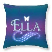 Ella Name Art Throw Pillow