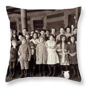 Ellis Island, C1908 Throw Pillow