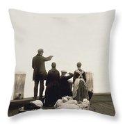 Ellis Island Immigrants Throw Pillow