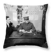 Ellis Island: Testing, C1914 Throw Pillow