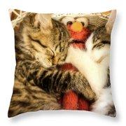 Elmos Nap Time---soft Look Throw Pillow