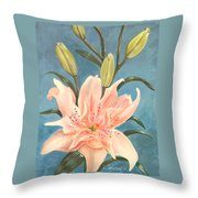 Elodie Lily Throw Pillow
