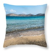 Elounda Beach Throw Pillow