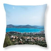 Elounda Town Throw Pillow