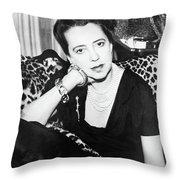 Elsa Schiaparelli (1890-1973) Throw Pillow