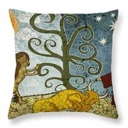 Elton's Fairytale  Throw Pillow by Sergey Khreschatov