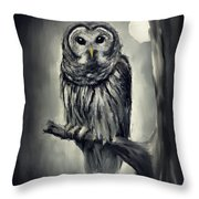 Elusive Owl Throw Pillow