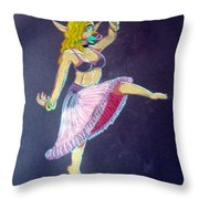 Elven Belly Dancer Throw Pillow