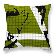 Elvis And The Other Lady Throw Pillow
