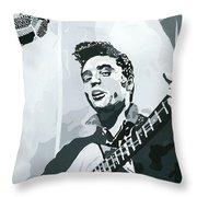 Elvis At Sun Throw Pillow