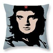 Elvis Che Guevara Viva Las Vegas Throw Pillow
