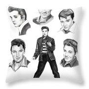 Elvis Elvis Elvis Throw Pillow