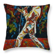 Elvis If I Can Dream Throw Pillow
