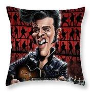Elvis In Memphis Throw Pillow