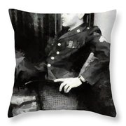 Elvis In Uniform Throw Pillow
