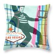 Elvis Jailhouse Rock Throw Pillow