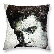 Elvis Love Me Tender Mosaic Throw Pillow