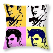Elvis Pop X Four Throw Pillow