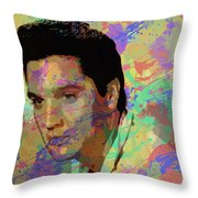 Elvis Presley - 5 Throw Pillow