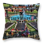 Elvis Presley Burial Site Throw Pillow