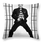 Elvis Presley In Jailhouse Rock 1957 Throw Pillow