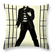 Elvis Presley Jailhouse Rock Throw Pillow