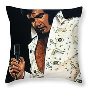 Elvis Presley Painting Throw Pillow