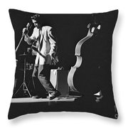 Elvis Presley Performing At The Fox Theater 1956 Throw Pillow
