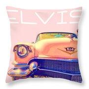 Elvis Presley Pink Cadillac Throw Pillow