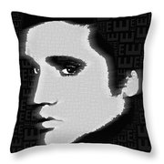 Elvis Presley Silhouette On Black Throw Pillow