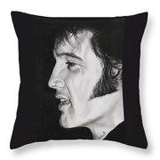 Elvis Presley  The King Throw Pillow